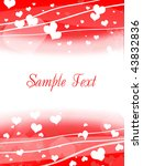 valentine's day card | Shutterstock . vector #43832836