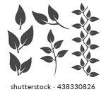 leaves design elements | Shutterstock .eps vector #438330826