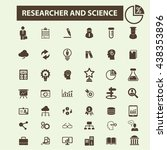 researcher and science icons | Shutterstock .eps vector #438353896