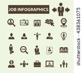 job infographics icons | Shutterstock .eps vector #438361075