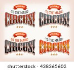 retro circus banners ... | Shutterstock .eps vector #438365602