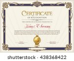 certificate of recognition... | Shutterstock .eps vector #438368422