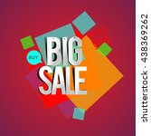 big sale discount vector design ... | Shutterstock .eps vector #438369262