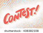 contest banner. | Shutterstock .eps vector #438382108