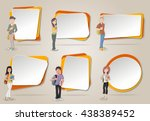 vector banners   backgrounds... | Shutterstock .eps vector #438389452