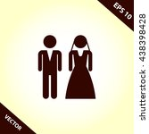 bride and groom icon | Shutterstock .eps vector #438398428