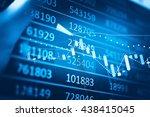 stock market chart which... | Shutterstock . vector #438415045