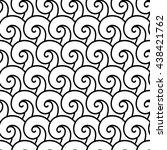 vector seamless monochrome... | Shutterstock .eps vector #438421762