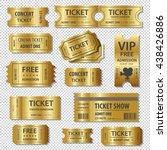 set of eleven vector tickets... | Shutterstock .eps vector #438426886