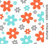 flowers   background | Shutterstock . vector #438435646