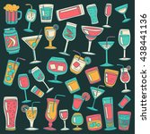 alcohol drinks and cocktails... | Shutterstock .eps vector #438441136