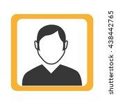 avatar man on yellow square... | Shutterstock .eps vector #438442765