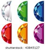 illustration of halfmoon cut...   Shutterstock . vector #43845127