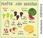 fruits and berries set   Shutterstock .eps vector #438455215