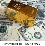 Gold Bars And Us Dollar...
