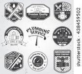 set of retro vintage badges ...