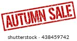 autumn sale stamp.stamp.sign... | Shutterstock .eps vector #438459742