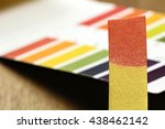 universal indicator paper with... | Shutterstock . vector #438462142