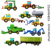 vector set of agricultural... | Shutterstock .eps vector #438464932