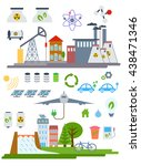 vector ecology infographic... | Shutterstock .eps vector #438471346