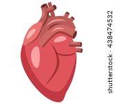 human heart icon in cartoon... | Shutterstock .eps vector #438474532