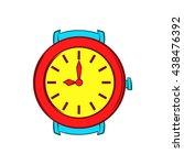 red wrist watch icon  cartoon... | Shutterstock .eps vector #438476392