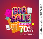 big sale discount 70  off... | Shutterstock .eps vector #438477442