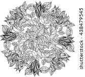 mandala shaped contoured... | Shutterstock .eps vector #438479545