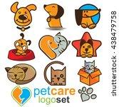 pet care logo logo set   Shutterstock .eps vector #438479758