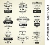 set of inspiring success quotes ... | Shutterstock .eps vector #438497215