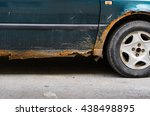 car with rust and corrosion ... | Shutterstock . vector #438498895