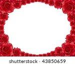 rose frame - stock photo