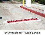 spikes at parking | Shutterstock . vector #438513466