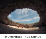 hidden beach mexico | Shutterstock . vector #438528406
