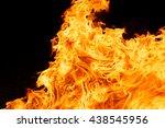 blaze fire flame texture... | Shutterstock . vector #438545956