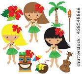 hawaii vector illustration | Shutterstock .eps vector #438548866