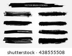 vector brush strokes.hand drawn ... | Shutterstock .eps vector #438555508
