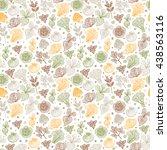 hand drawn doodle vegetables... | Shutterstock .eps vector #438563116