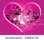 valentines day card with hearts | Shutterstock .eps vector #43856725
