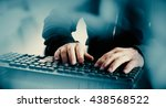 cyber crime attack on bank | Shutterstock . vector #438568522
