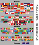 flags of the world. 140 correct ...   Shutterstock .eps vector #438574492