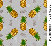 seamless pattern made from hand ... | Shutterstock .eps vector #438576892