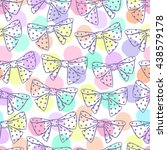 seamless pattern with bows on a ...   Shutterstock .eps vector #438579178