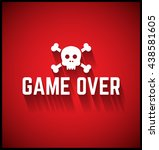 game over graphic element.  | Shutterstock .eps vector #438581605