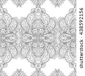 seamless paisley pattern.... | Shutterstock . vector #438592156