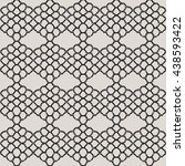 knitted lace  lace pattern... | Shutterstock .eps vector #438593422
