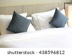 comfortable pillows and bed | Shutterstock . vector #438596812