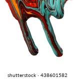 paint dripping   | Shutterstock . vector #438601582