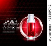 laser serum collagen and... | Shutterstock .eps vector #438609742