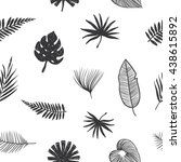 pattern tropical leaves. hand... | Shutterstock .eps vector #438615892